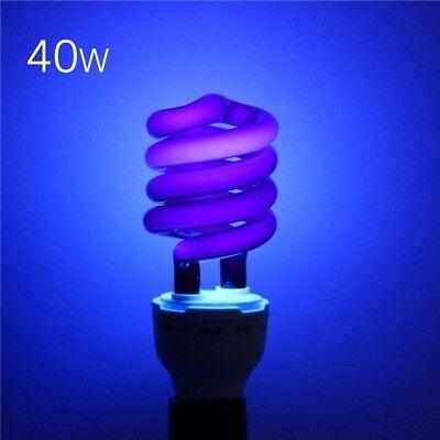 US Led light bulb 220V 40W E27 Ultraviolet UV Spiral Energy Saving BlackLight