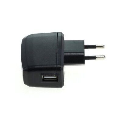 Ladeadapter USB Netzteil Lader Ladegerät Power Plug 1A in schwarz -8012646- Plug Power Adapter