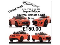 Jaquar F-Type, Orange, Parental Remote & Self Drive Ride-On
