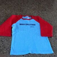 "Jersey  Boys size 3 "" Walk Like a Man "" 3/4 shirt"