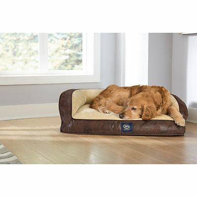 Bed Serta Dog Orthopedic Large Pet Quilted Foam Pillowtop Couch Soft Washable