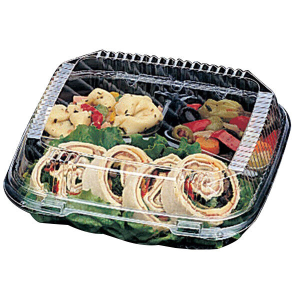 Pactiv ClearView SmartLock Food Containers, 3-Compartments (Case of 200)