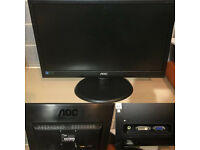 "AOC 18.5"" LED Monitor with Integrated Speakers (DVI & VGA)"
