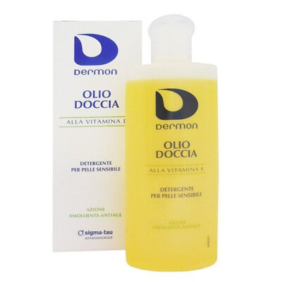 Dermon olio doccia 200 ml alla vitamina E detergente per pelle sensibile