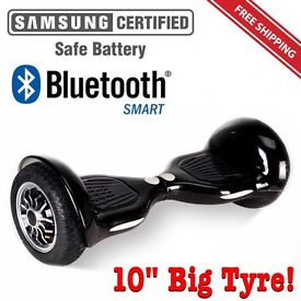 "10"" big tyre carbon fibre Bluetooth Samsung LED BRAND NEW hoverboard swegway"