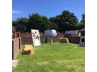 Giant outdoor fete games/wedding games
