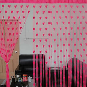 Heart-Style-Line-String-Door-Curtain-Tassel-Window-Room-Curtain-Divider-Scarf