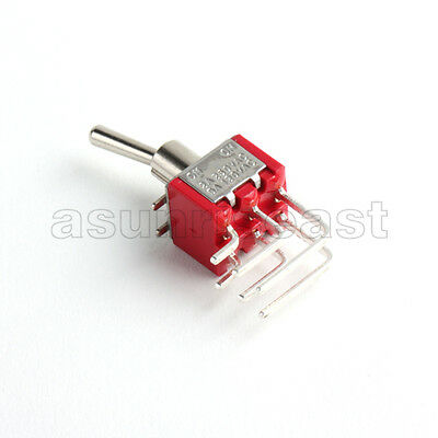 5 Mini Right Angle Toggle Switch Switches Dpdt 2 Position On On Pcb Mounting