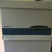 9 MOVING/STORAGE BANKER BOXES -  $2 each