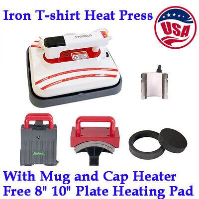 12x10inch Iron T-shirt Heat Press Transfer Printing Machine With Mug Cap Heater