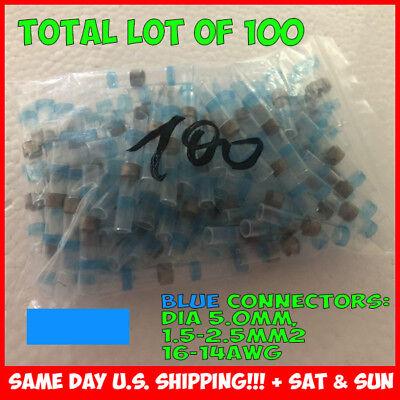 100PCS Solder Sleeve Heat Shrink Butt Waterproof 16-14 AWG Wire Splice Connector