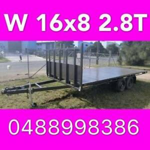 16x8 table top tandem trailer flattop flatbed aus made 14x8