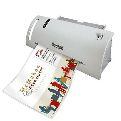 Scotch Thermal Laminator Laminating Machine 2 Roller System Fast Warmsup 3-5 Mil