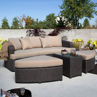 Toronto DayBed 4pc All Weather Resin Wicker Patio Set, $1975