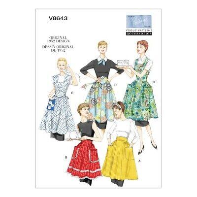 Vogue Sewing Pattern V8643 Women's Vintage Aprons