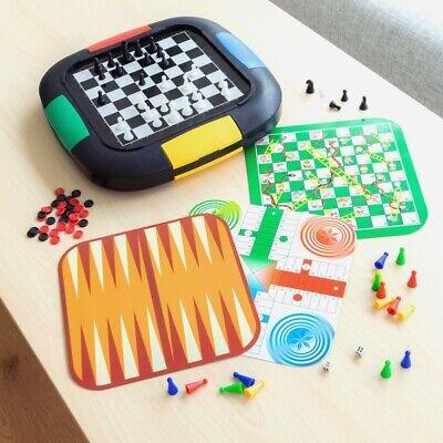 5 Juegos de Mesa (ajedrez,parchis,la oca,backgammon,sankes ladders)2-4 jugadores