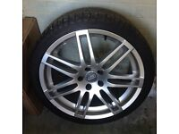 Audi Alloy wheel and tyre 235 35 19