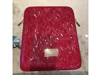 Genuine Michael Kors Signature Print Red Patent Real Leather Ipad Case (£100 new)