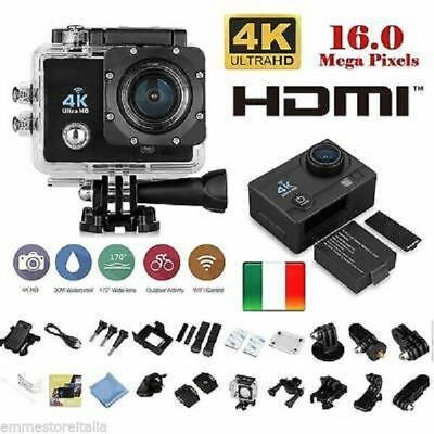 Pro Cam 4K SPORT WIFI ACTION CAMERA ULTRA HD VIDEOCAMERA SUBACQUEA GOPRO Q3 EMMS