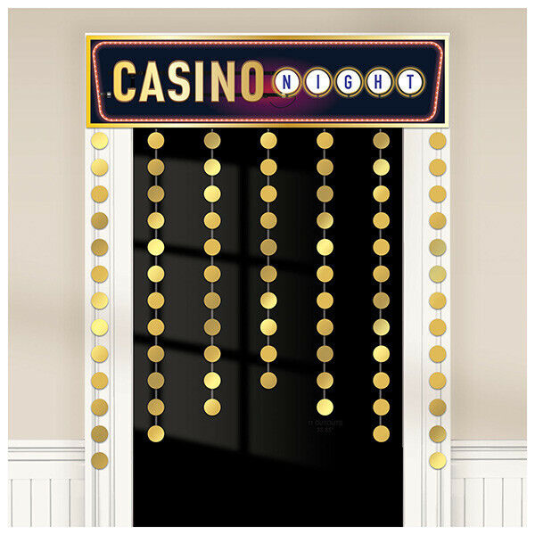 rice the dice casino night door curtain