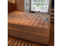 Double divan bed- MUST GO