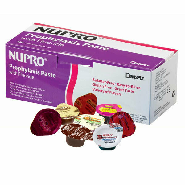 Dentsply 801223 Nupro Prophy Paste Cups Medium Grit Mint Without Fluoride 200/Pk