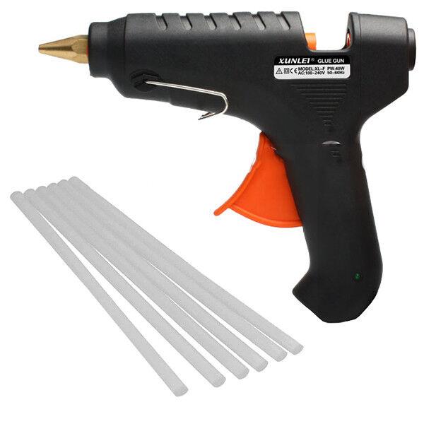 Pistola Per Colla A Caldo 8 Stick Silicone Lavoro Fai Da Te Incollare Casa 552