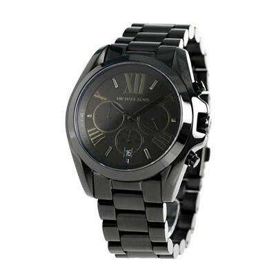 Michael Kors MK5550 Bradshaw Black Stainless Steel Chrono Dial Unisex Watch