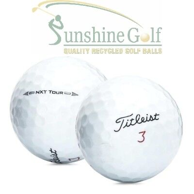 100 AAA Titleist NXT Tour Used Golf Balls (3A) - FREE SHIPPING