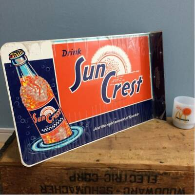 Antique collection SunCrest Vintage Sign Dead Stock Not For Sale from Japan!!!!!