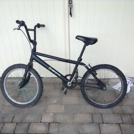 Matte black boys/men's bmx