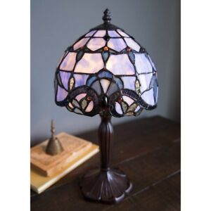 Tiffany Style 14 inch H Stained Glass Table Lamp (NEW in box)