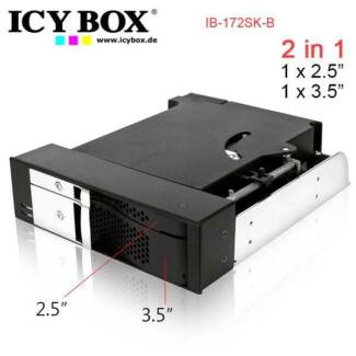 ICYBOX IB-172SK-B, TWO IN ONE , 2Bay Mobile Rack for 1x2.5 inc +