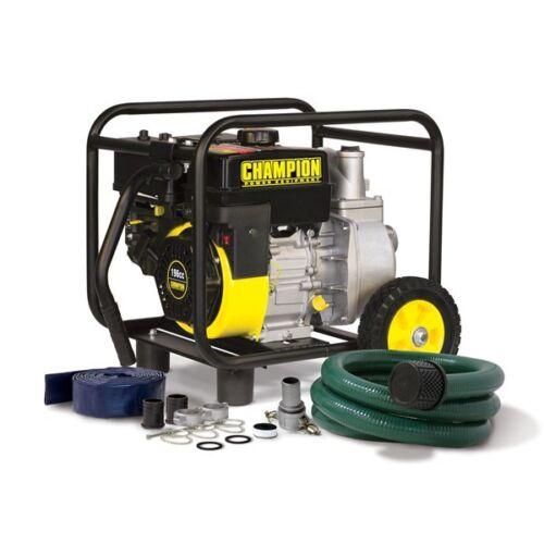 "66520R - Champion  2"" Semi Trash Pump w/ Wheel and Hose Kit -REFURBISHED"