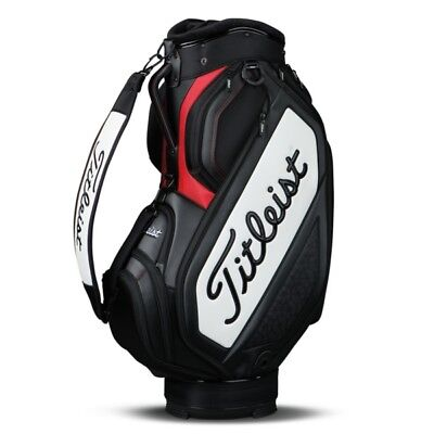 NEW 2017 Titleist Mid Staff Golf Cart Bag TB7SF4-061 Black White Red