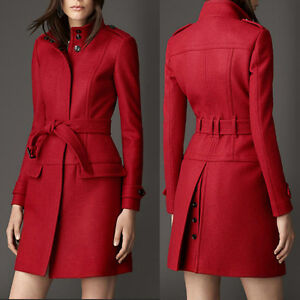 BNWT Red Winter Wool Blend Belted Coat XL (10-12?) Kitchener / Waterloo Kitchener Area image 2