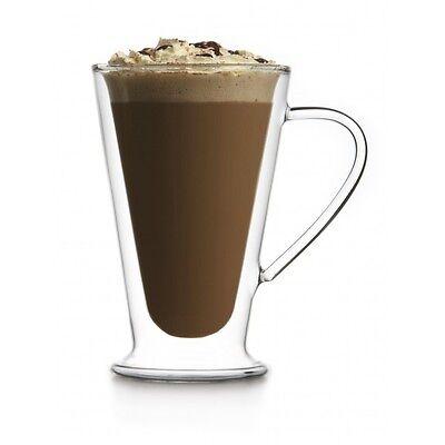 Brilliant - Double Wall Cappuccino/Coffee/Latte Glass Mug 13.5oz. Set of 2