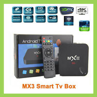 New Genuine MX III MXIII MX3 4K Android Smart TV Box MX 3 KODI