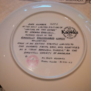 """Norman Rockwell, """"Waiting on the Shore"""" limited edition plate London Ontario image 2"""