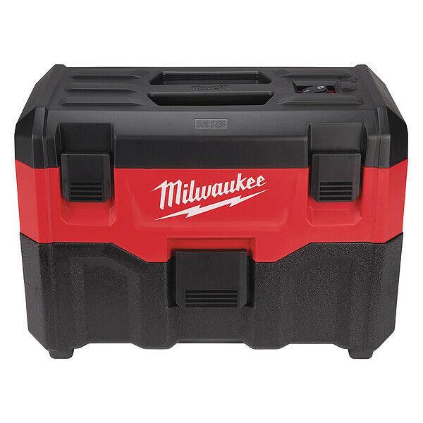 """MILWAUKEE 0880-20 M18TM Cordless Wet/Dry Vacuum, 1-1/4"""" Hose Dia., HEPA 45 cfm"""