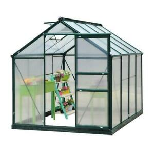 Walk-in Garden Greenhouse Poly carbonate Aluminum Frame / Heavy duty greenhouse for fruits and vegetables