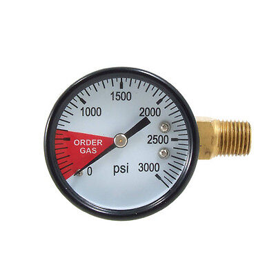 Replacement Regulator Gauge 0-3000 Right Hand Thread - Co2 Kegerator Gas Reader