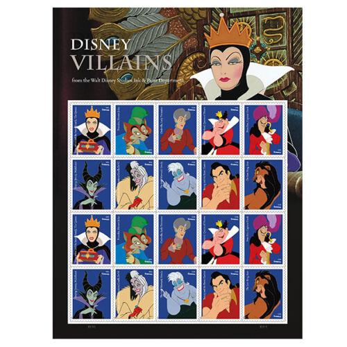 Купить USPS New Disney Villains Full Pane of 20