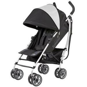 Summer Infant 3D Zyre Convenience Stroller in Glacier Black/Gray NEW