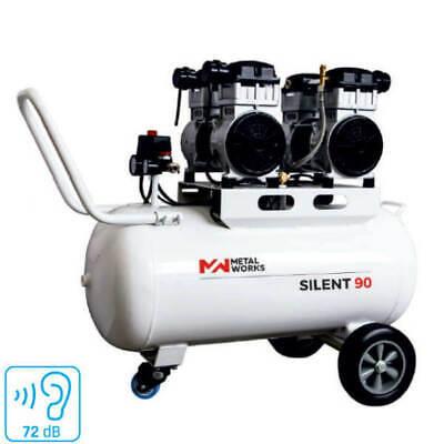 COMPRESOR DE AIRE SILENCIOSO METALWORKS SILENT 90 4 HP 90 LITROS