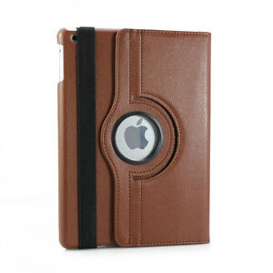 BROWN 360 ROTATING PU LEATHER CASE COVER WITH STAND FOR IPAD AIR Regina Regina Area image 4