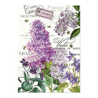 Michel Design Works Kitchen Towel Lilac and Violets NEW