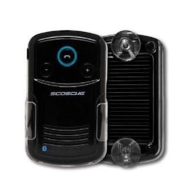 Scosche Car Speakerphone Solar Powered Handfree Bluetooth w/Caller ID - Black