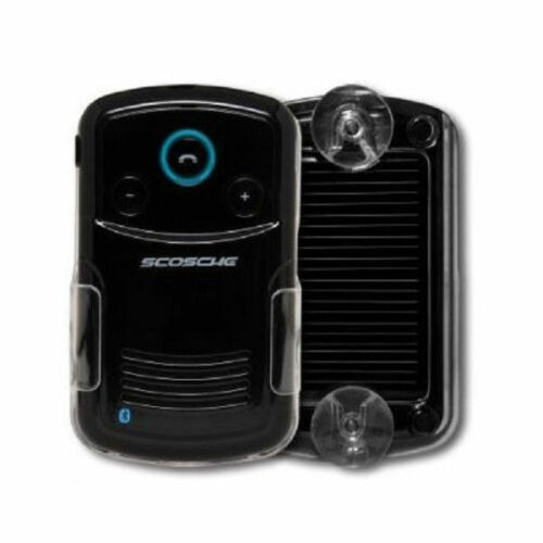 Scosche Car Speakerphone Solar Powered Handfree Bluetooth w/Caller ID - Black