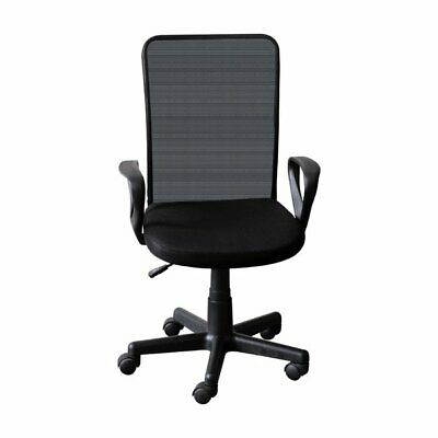 Ids Home Black Modern Ergonomic Mesh Computer Desk Task Swivel Office Chair